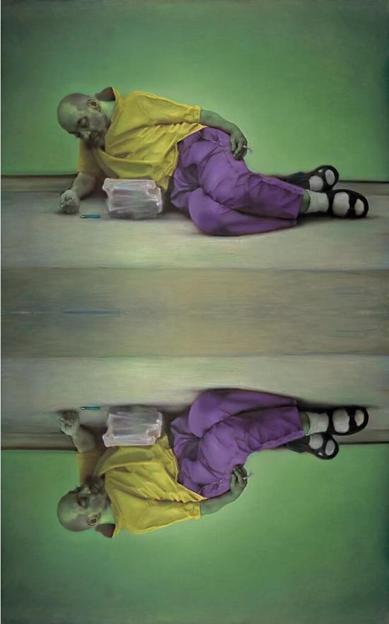 《纳西索斯》布面油画 160cmx200cmx2 2015