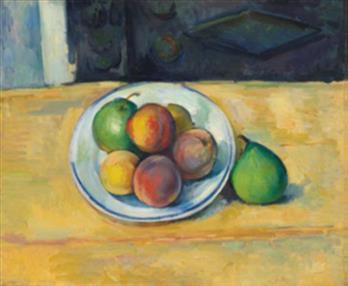 保罗·塞尚的《静物:桃与梨》