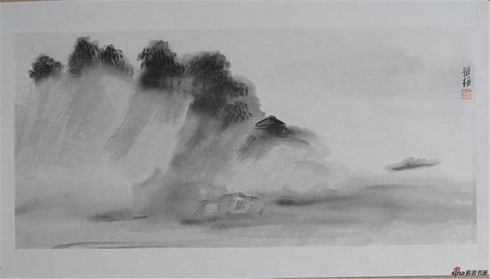 朱雅梅 渡35x74.7cm纸本水墨2017年