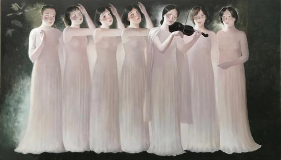 夜曲 Nocturne 110x190cm布面丙烯 Acrylic on Canvas 2019