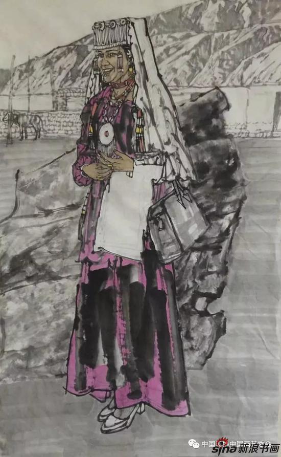 《塔吉克新娘》 136x68cm