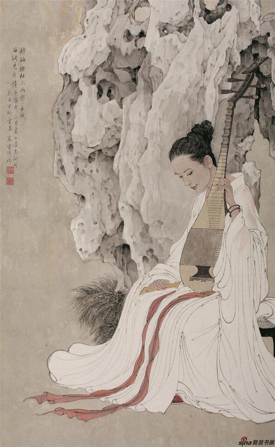 高云上拍作品之一《未成曲调先有情》入选中国国家画院建院30周年大展