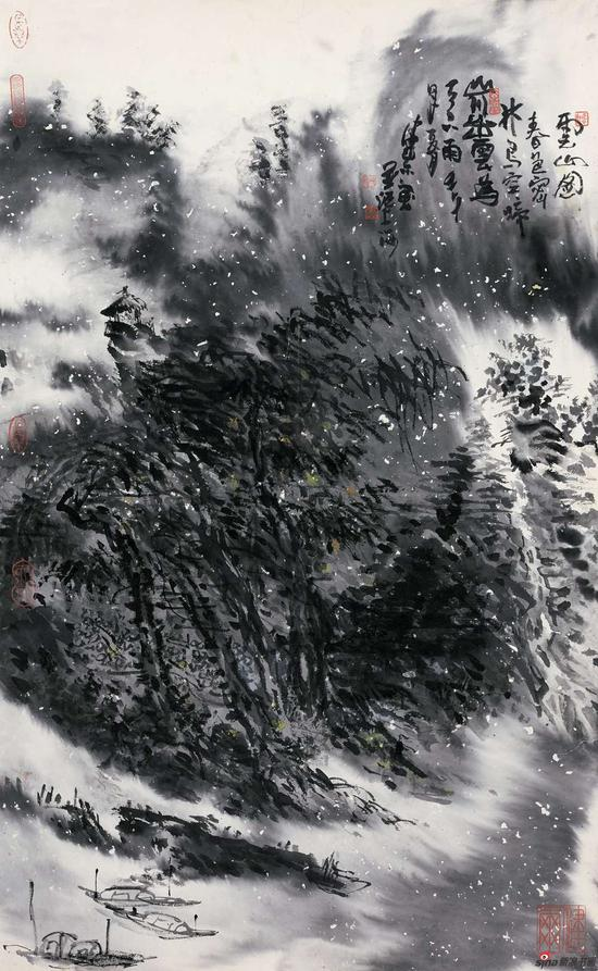 《云山图》58x94cm 2017