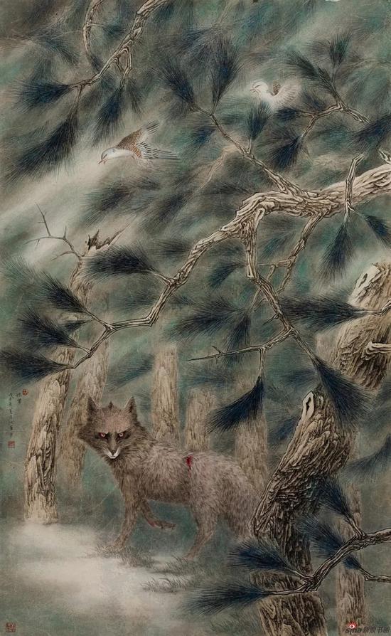 《惊梦》 180cm-90cm 2010年 设色纸本