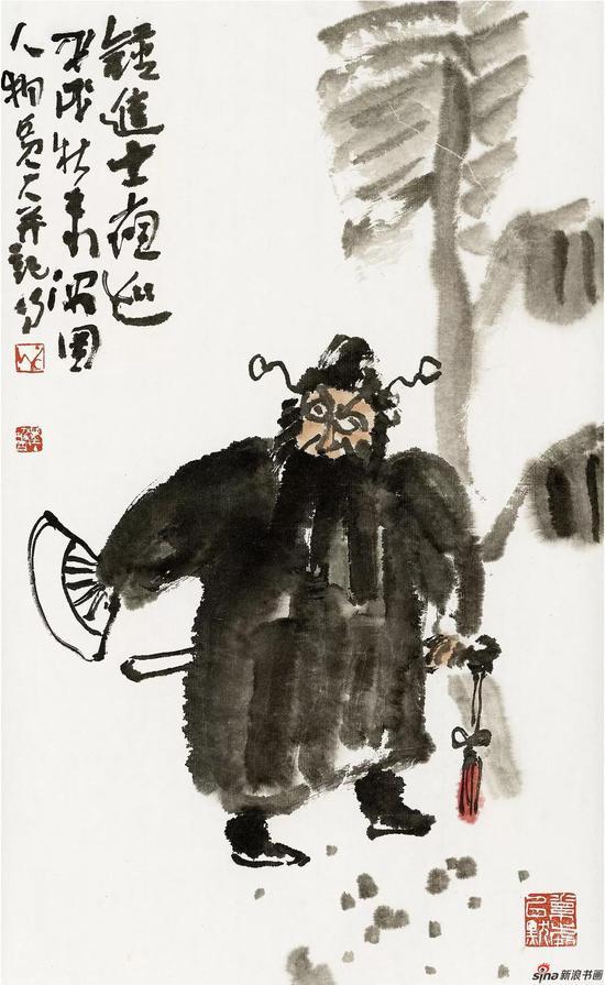 王迎春作品《钟馗》 34.5cm × 56cm 2018