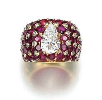 RUBY AND DIAMOND RING, TABBAH