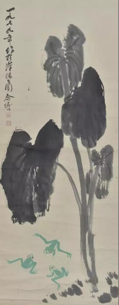 赵合俦 蛙趣图 尺寸:136×51cm 约6.24平尺 立轴 成交价:9350元