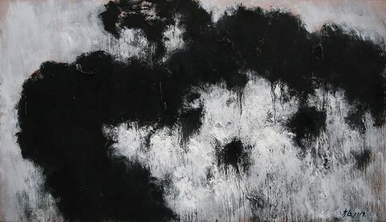 张方白 凝固三号 300cmx200cm 布面油画 2017年
