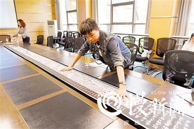 陈良圣立志在大学毕业前刻出清明上河图