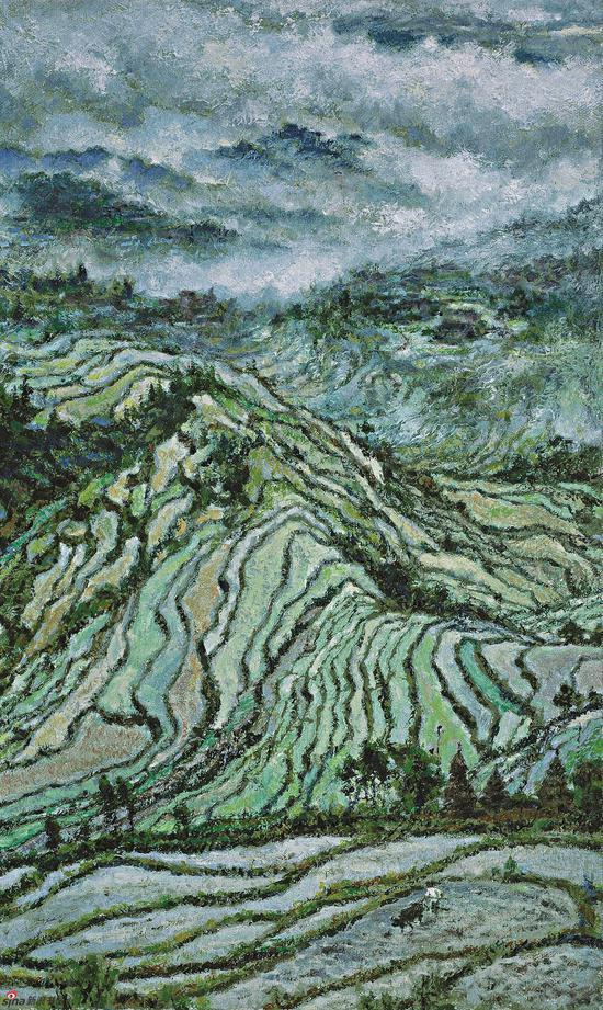 春?灵山远眺 300×180 cm 2011