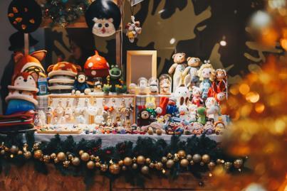 圣诞市集现场图