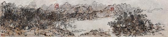 龎均,梦黄宾虹No.3,1994,130x582cm