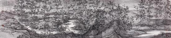 竹生空野外 50cm×227cm 2017