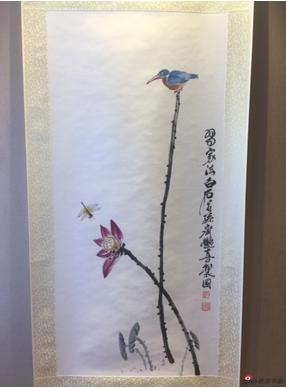 齐艳喜-《荷花翠鸟》