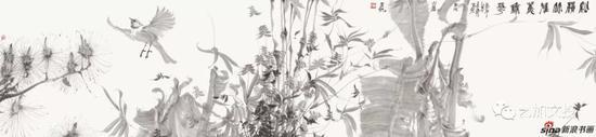 周京新《艳惊系列之一》53cm×228cm 2018年
