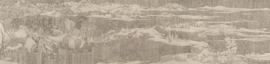 丛云峰 Cong Yunfeng 二进制-溪山雪意图 Binary Streams and Mountains Under Fresh Snow 80×330cm 绢本水墨 Ink on Silk 2018
