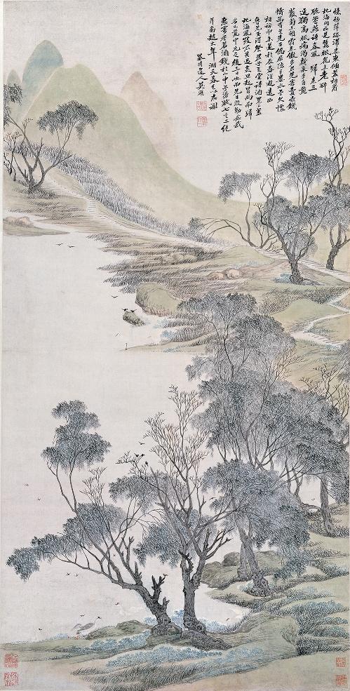 吴历《湖天春色图》上海博物馆藏