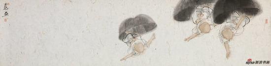 《地老天荒》(穿越系列之五)中国画 纸本设色 2017