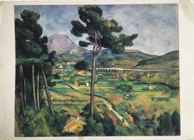 文中提及的明信片,印的是塞尚画的圣维克多山