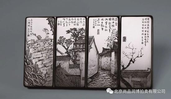 胡玮 中国玉石雕刻名家胡玮 塔青花样年华插牌