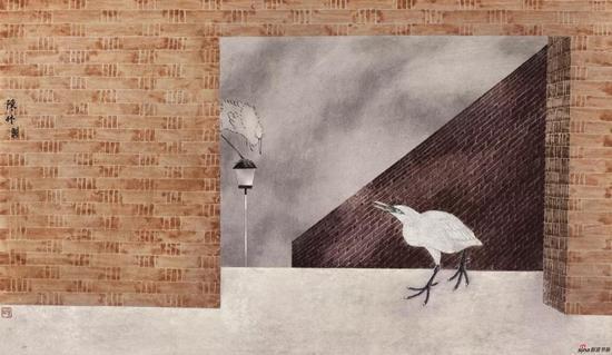 陈林 苔痕·和 50×85cm
