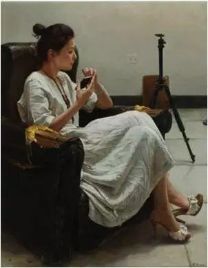 杨健男《画室里的女孩》