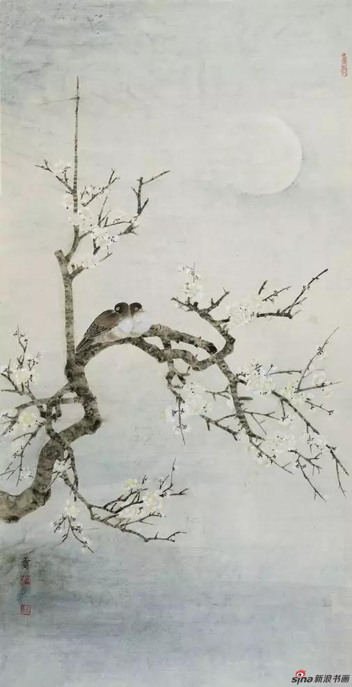 《寒汀幽梦》_樊蕾 132cm×67cm