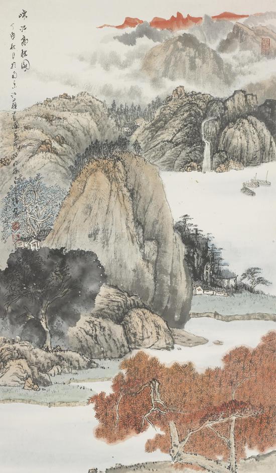 峡江高秋图