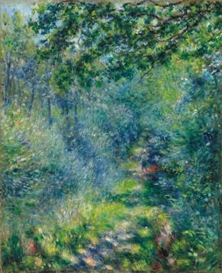 彼埃・奥古斯特・雷诺阿 (Pierre-August Renoir) 《树林里的小径》