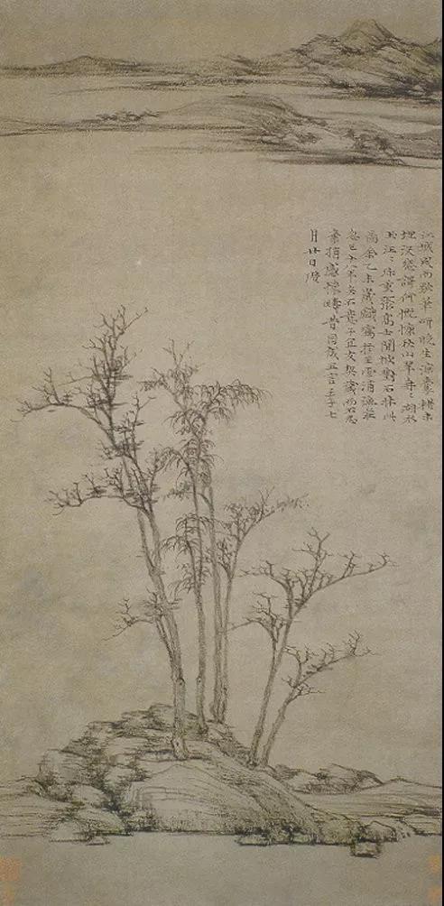 倪瓒《渔庄秋霁图》是典型的平远之作