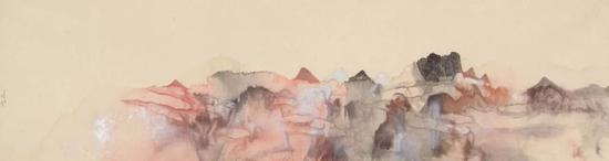 丁酉云山系列 168x58cm 纸本设色 2017