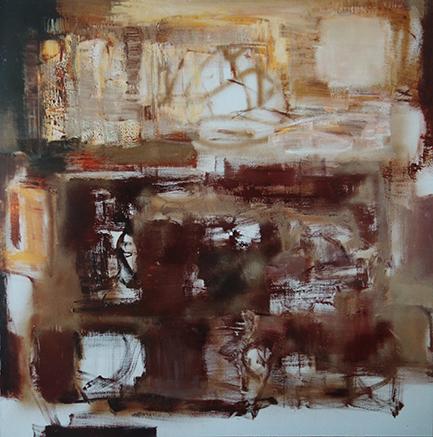 王克良作品《 作品0606》 布面油彩 150×150cm 2006