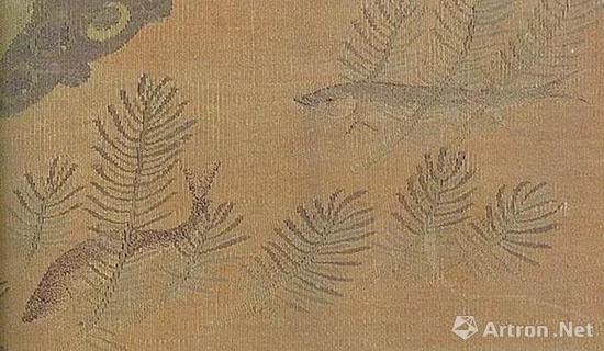 宋 缂丝翠羽秋荷(局部)