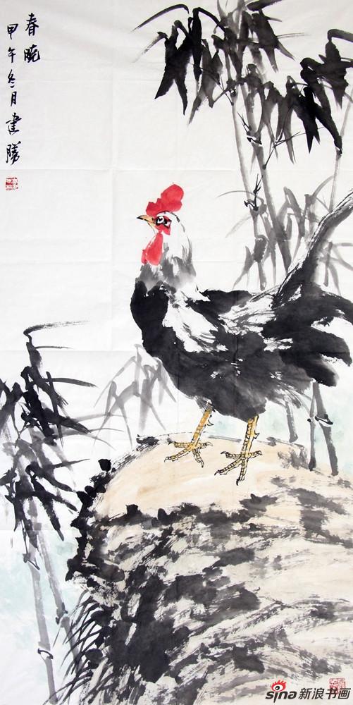 高建胜作品-春晓-137x69cm