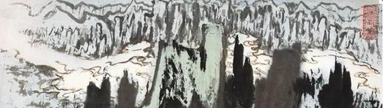 17秋诚轩拍品《翠岭春融》中的远山