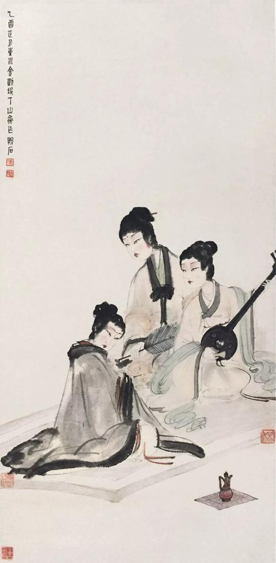 傅抱石 1945年作《擘阮图》 南京博物院藏