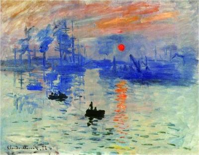 日出印象(油画) 克劳德·莫奈