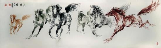 雷晓宁 《大顺图》 180 x 48cm