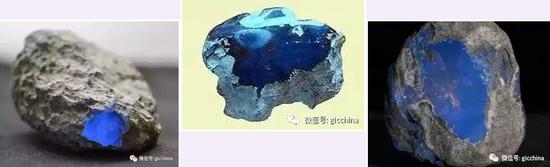 图为多米尼加蓝珀原石