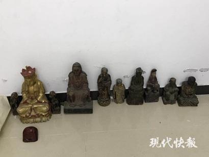 警方查获的古董佛像