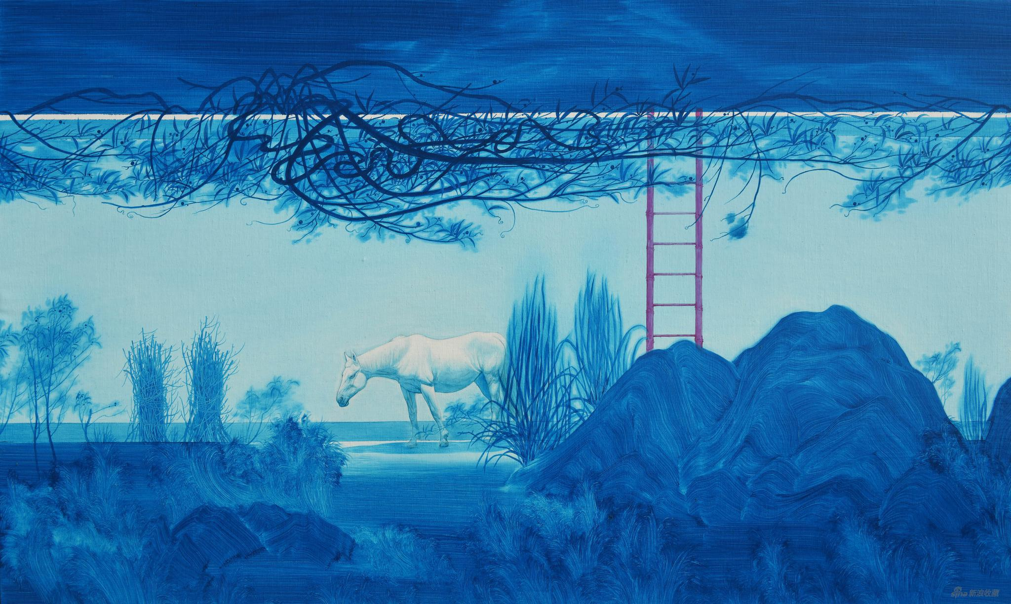 易国栋《生生不息——墙内墙外No.7》60x100cm,布面油画,2020