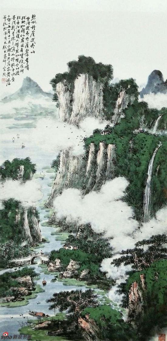 《碧水丹崖武夷山》,69cmx136cm,2015年,黄廷海作