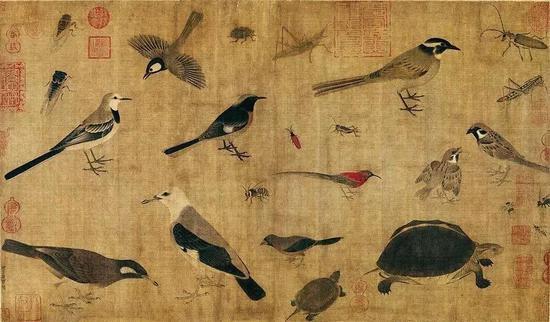 《写生珍禽图》五代西蜀·黄笙绘