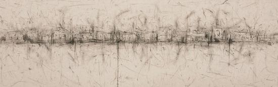 刘永涛 《能够感觉到的风景——外滩》 纸本水墨 60cm X 80cm 2011年