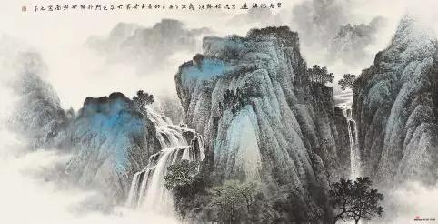 《云飞沧海远》 70cm×137cm 佘玉奇 江苏省中国画学会副会长