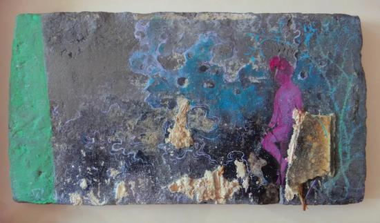 陈清勇《制造姿态》-39 2016 油画 30X40cm