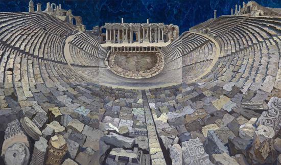 《Ephesus》布面油画200x340cm  2018