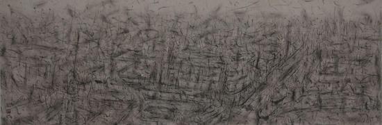 刘永涛 《能够感觉到的风景——南京东路》 纸本水墨 60cm X 180cm 2011年