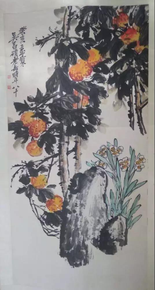吴昌硕 《花鸟》