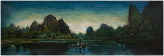 作品一:《山水风景》